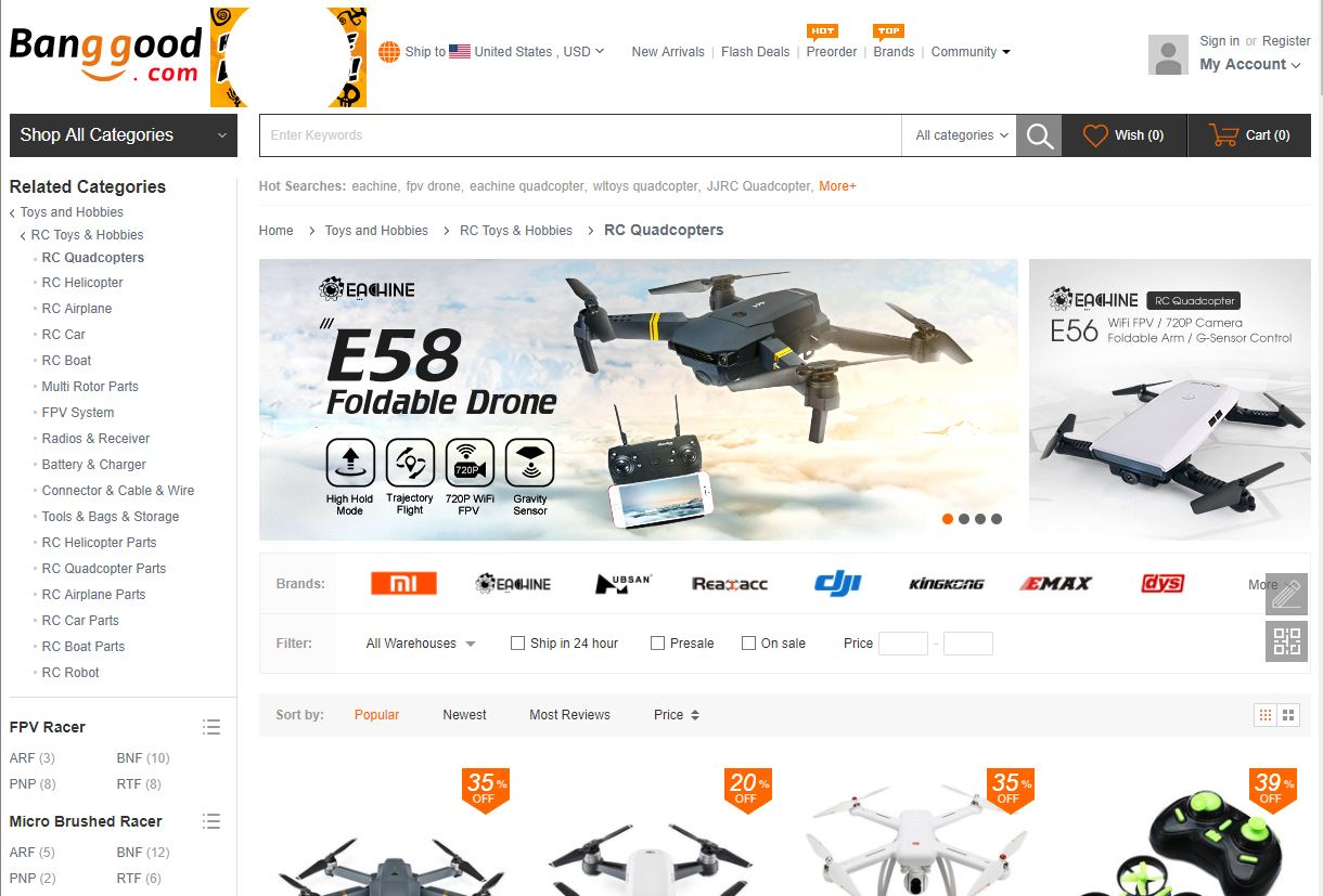 Top 5 Websites to Buy Quadcopters and Accessories – C Ray