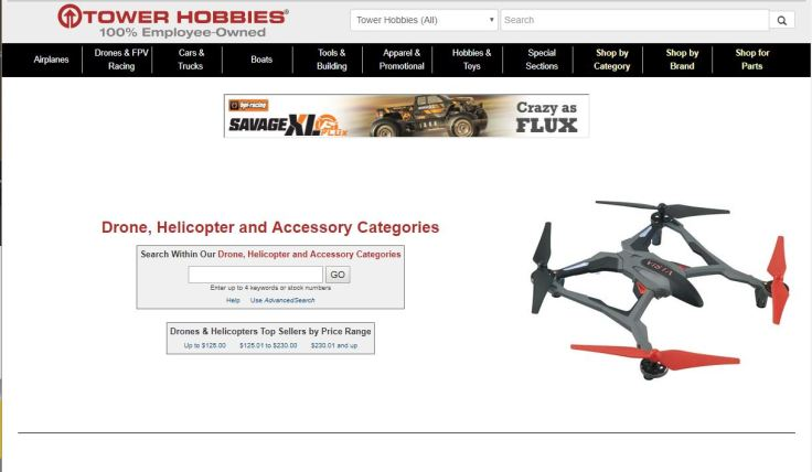 https://www.towerhobbies.com/listings/cat-e-rc-drones-fpv-racing-helicopters.html